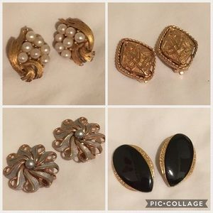 🐩 4 x Vintage earring/shoe clip bundle